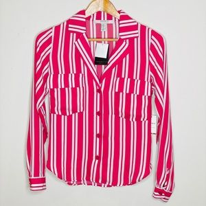 NWT Forever 21 Striped Button-Down Shirt Blouse